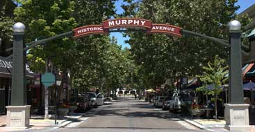 Sunnyvale scene: entrance to Historic Murphy Avenue
